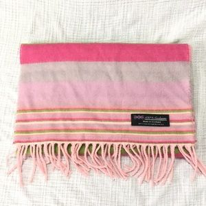 Vintage striped cashmere scarf made in Scotland